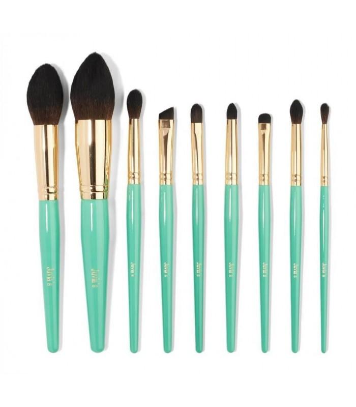 JUVIA'S Turquoise Blue 9pcs Brush - KIT 9 Pinceaux JUVIAS PLACE -  54.9