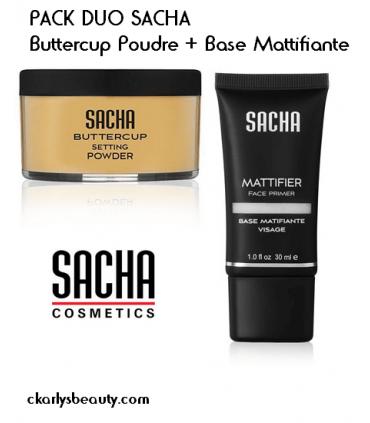 PACK DUO SACHA Buttercup Powder + Base Mattifiante SACHA COSMETICS INC -  49.79