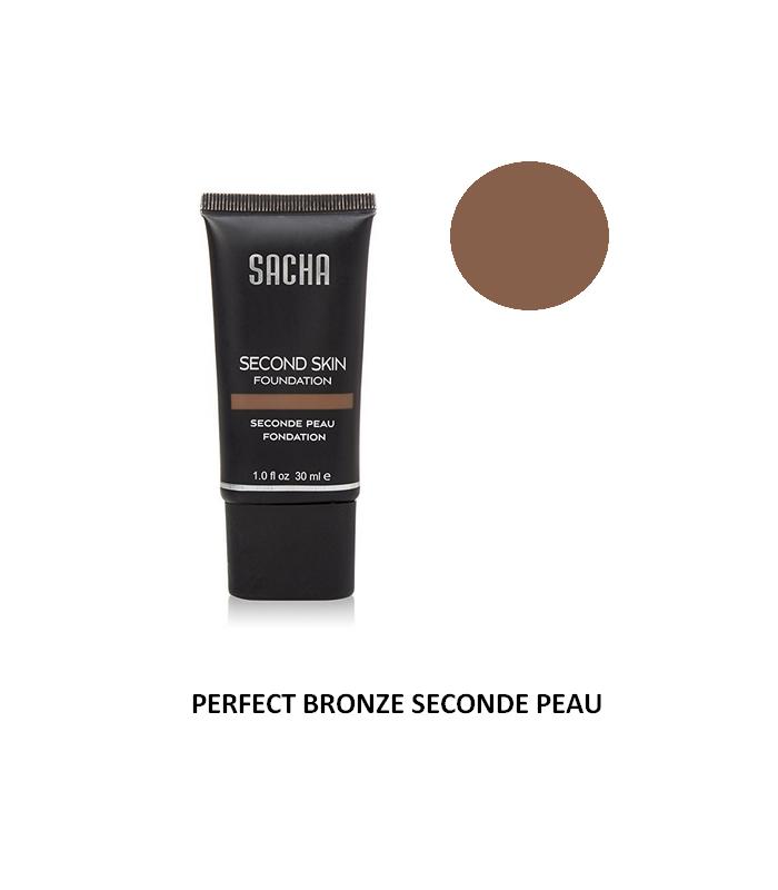 PERFECT BRONZE LIQUID SECOND SKIN 40ml - Fond de teint liquide Seconde Peau par Sacha Cosmetics