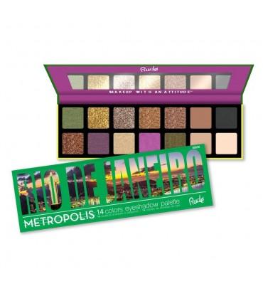 METROPOLIS 14 Eyeshadows - RIO DE JANEIRO - RUDE COSMETICS RUDE COSMETICS -  12.9