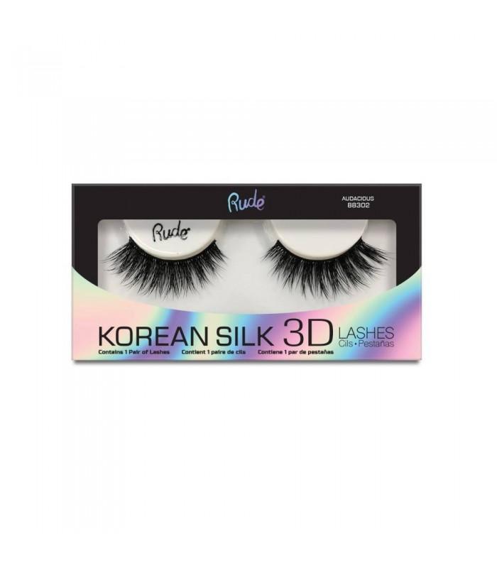KOREAN SILK 3D LASHES - Audacious - RUDE COSMETICS