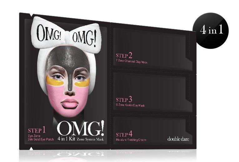 OMG Masque 4 en 1 spécial pour les 4 Zones principales du Visage