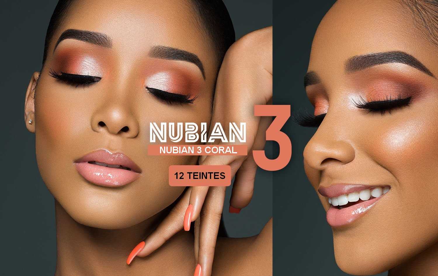 THE NUBIAN 3 CORAL EYESHADOW PALETTE JUVIAS PLACE | 12 Shades  THE NUBIAN 3 CORAL EYESHADOW PALETTE JUVIAS PLACE | 12 Shades