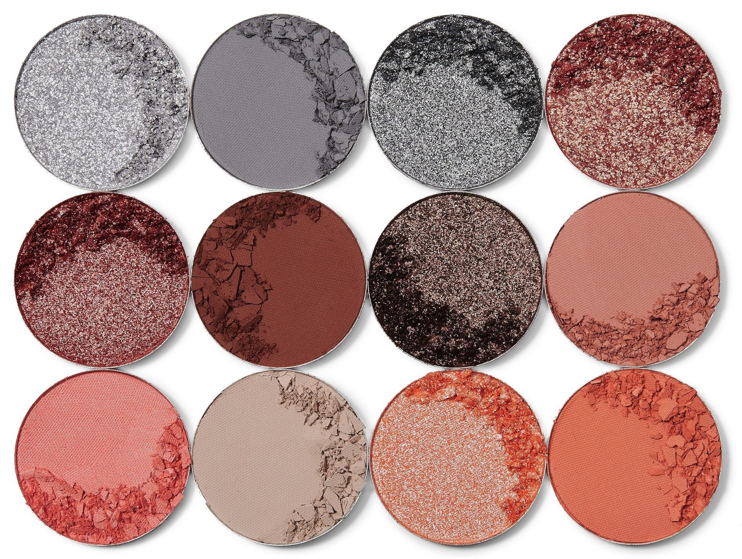 THE NUBIAN 3 CORAL EYESHADOW PALETTE JUVIAS PLACE | 12 Shades