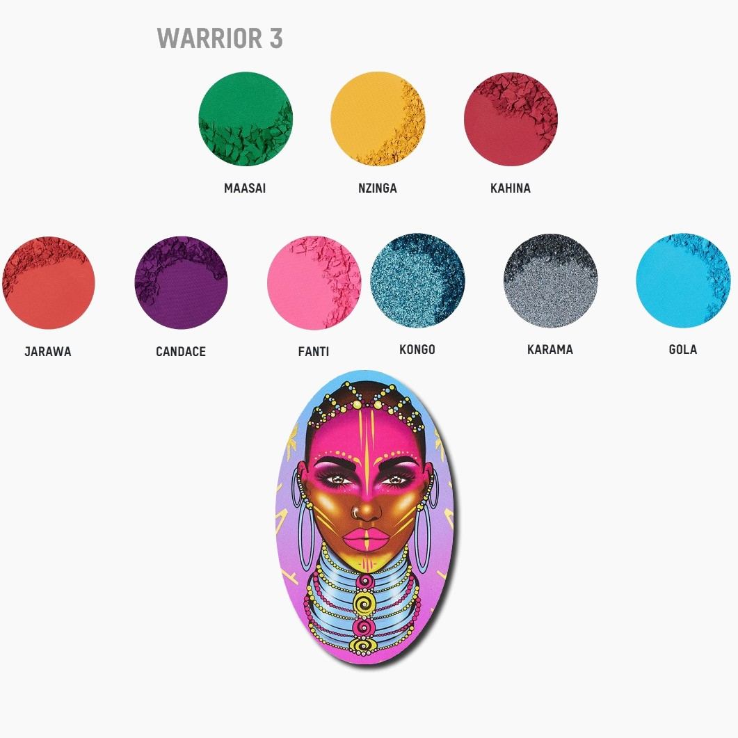 WARRIOR 3 EYESHADOW PALETTE JUVIAS PLACE