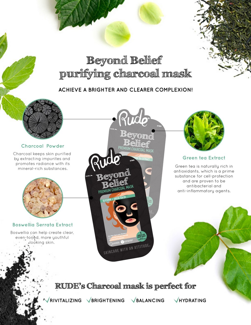 BEYOND BELIEF CHARCOAL FACE MASK